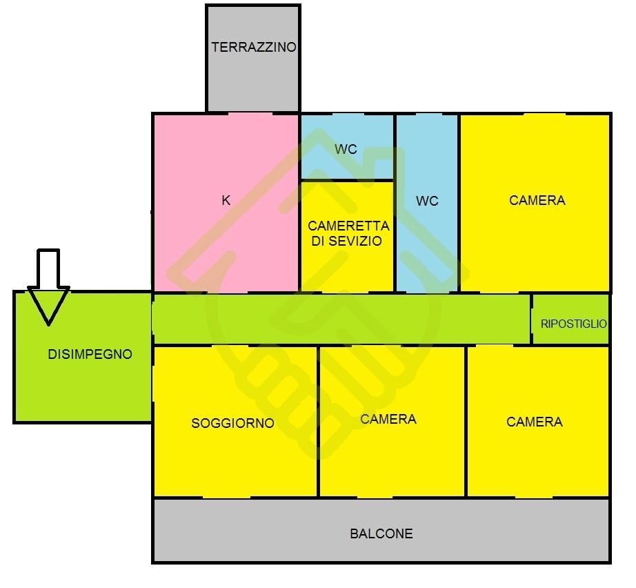 NAPOLI – TRAV. DE AMICIS AMPIO 4 VANI + 2 ACC. IN PARCO