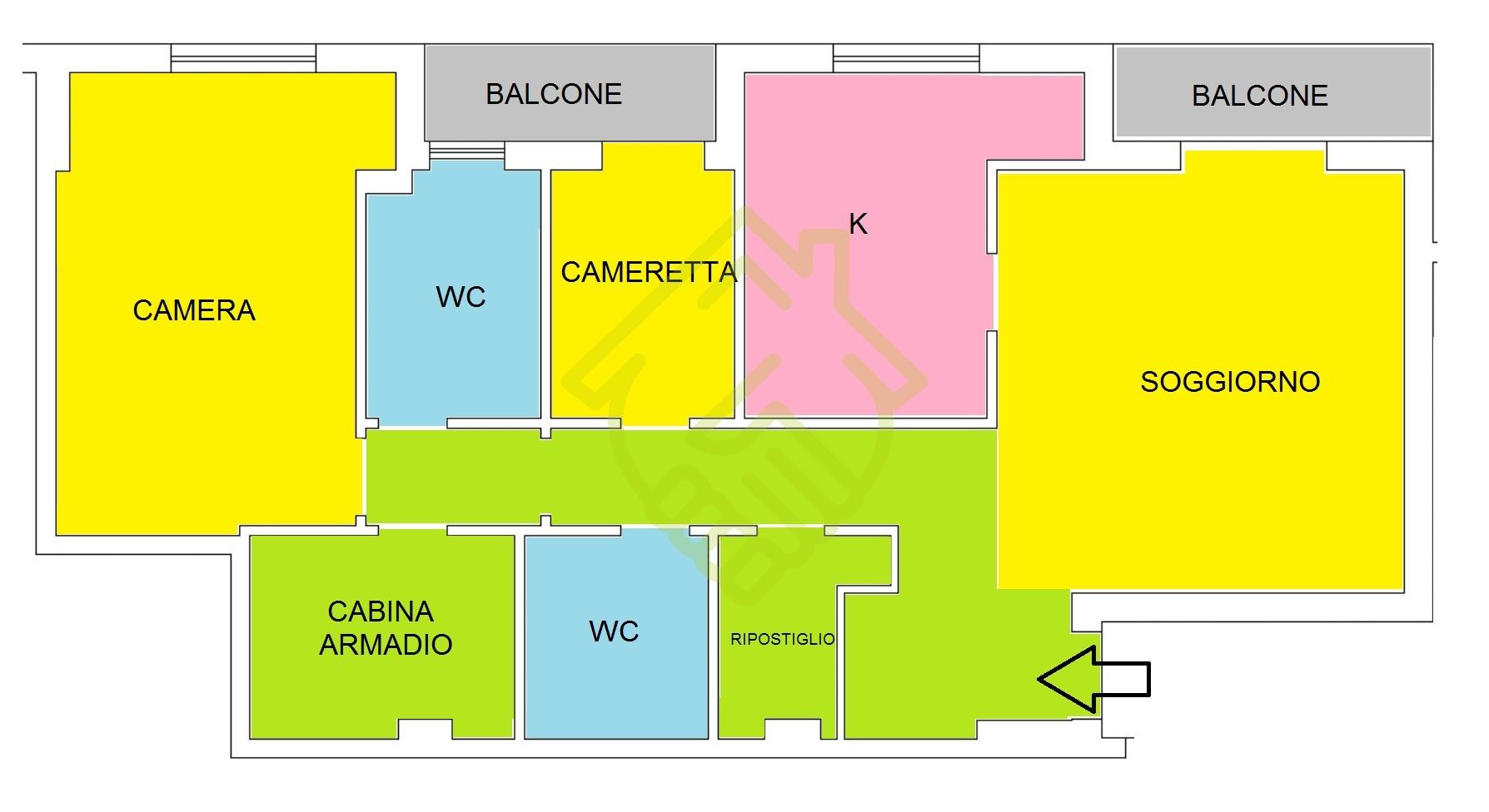 NAPOLI – RIONE ALTO 3 VANI 2 ACC. OTTIME RIFINITURE