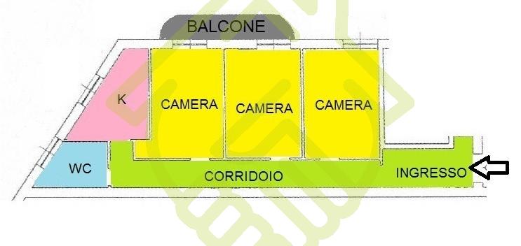 NAPOLI – RIONE ALTO AD. 3 VANI IN BUONO STATO CON P. AUTO E CANTINOLA